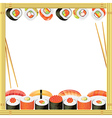 sushi frame vector image