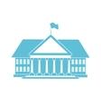 blue house shape vector image