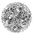 Cartoon cute doodles Science vector image
