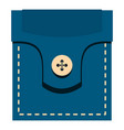 fashion pocket for shirt icon isolated vector image