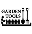 gardening tools symbol vector image