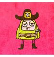Alien Sheriff Cartoon vector image