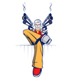 Cartoon gangster vector image vector image