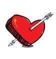 arrow pierced the heart vector image
