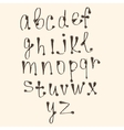 art sketched stylized alphabet in black vector image