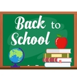 blackboard and back to school concept vector image