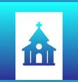 church catholic temple icon vector image