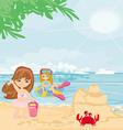 Fun on the beach vector image