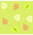 Green pattern with leaves vector image