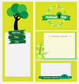 National Tree Day set of flower labels and cards vector image
