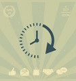 passage of time icon vector image