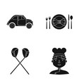 restaurant travel cafe and other web icon in vector image