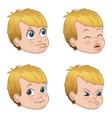 set of cute little bully boy vector image