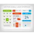 Set of mobile user interface and icons for app or vector image