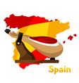 traditional spanish food jamon pork vector image
