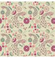 Vintage Floral Peacock pattern vector image