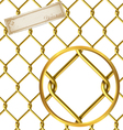 Seamless golden wire pattern vector image vector image