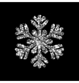 Snowflake glittering winter isolated on black vector image