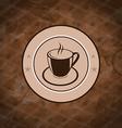 Retro background with coffee mug coffee bean vector image vector image