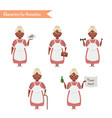 funny grandmother housewife cartoon vector image
