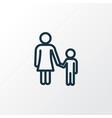 child outline symbol premium quality isolated vector image