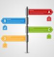 arrow signpost business options infographics vector image