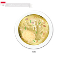 Soto or Traditional Indonesian Clear Chicken Soup vector image
