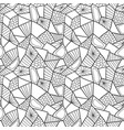 abstract seamless pattern doodle monochrome vector image