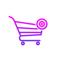 buy cart settings shop store icon vector image