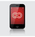 Smartphone with Infinity Symbol Isolated on vector image
