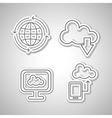technology icon set design vector image