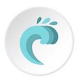 Twist wave icon circle vector image