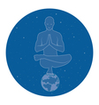 yoga in space vector image