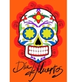 Day of the dead party Dea de los muertos card vector image