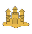 sand castle icon image vector image