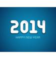 Happy New year - 2014 message design vector image vector image