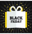 Black friday sale box cut the paper Yellow stars vector image vector image