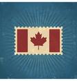 Retro Canada Flag Postage Stamp vector image vector image