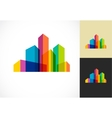 Colorful real estate city and skyline icon vector image