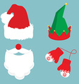 Christmas icon set vector image