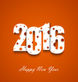 New Year wishes with circles on an orange vector image vector image