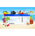 Airplane ticket Boarding pass vector image