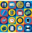 Money and bank icon set Flat designed style vector image