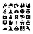 Industrial Colored Icons 11 vector image