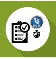 Call center design customer service icon vector image