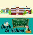 back to school concept lesson in classroom at vector image
