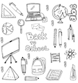 Doodle of hand draw education supplies collection vector image