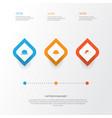 garment icons set collection of panama elegant vector image