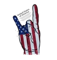 hand cool gesture on the background of the flag of vector image