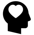 Man in love icon vector image